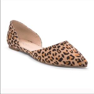 Shoes - 🐆Leopard print vegan suede flats 🐆